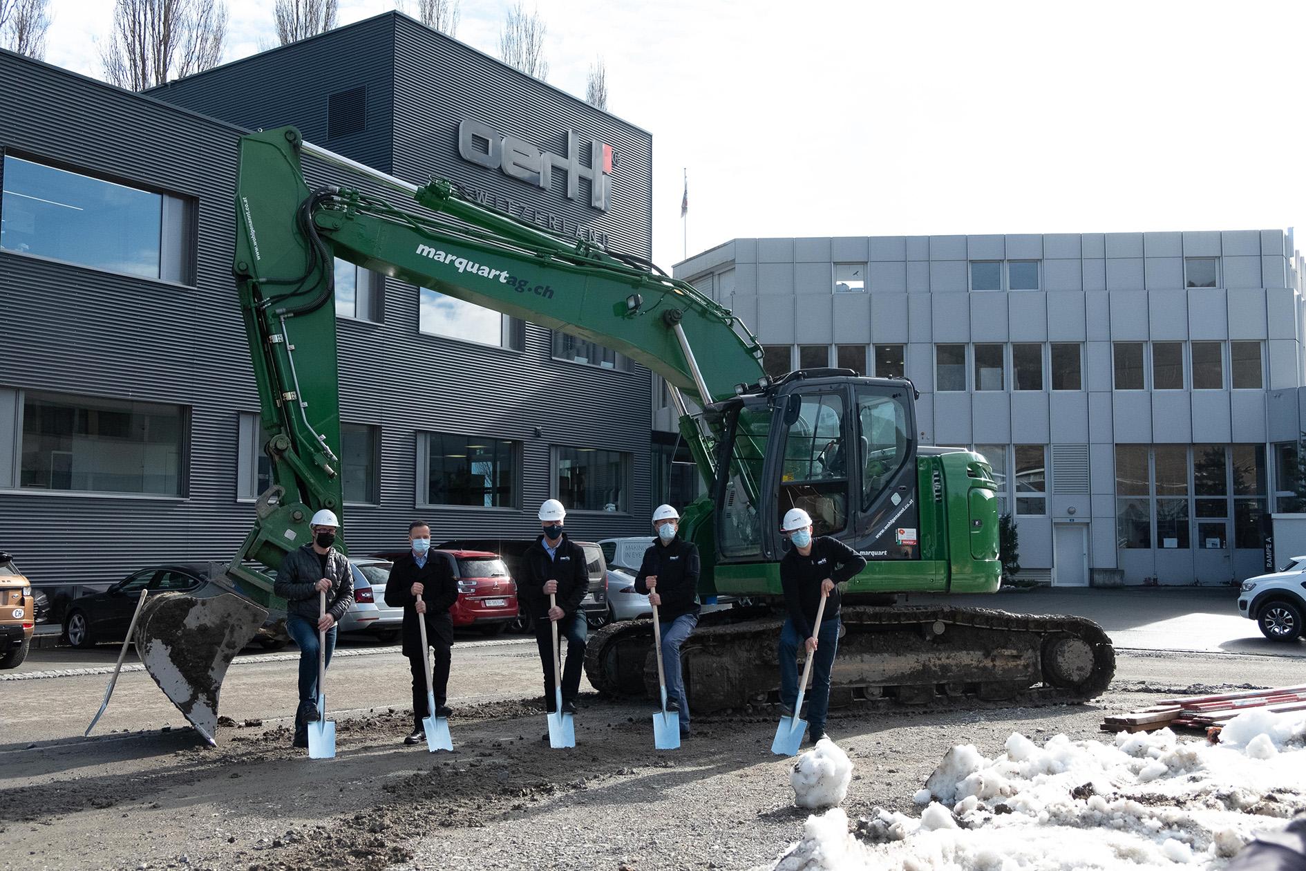 Spatenstich Oertli Lean Factory